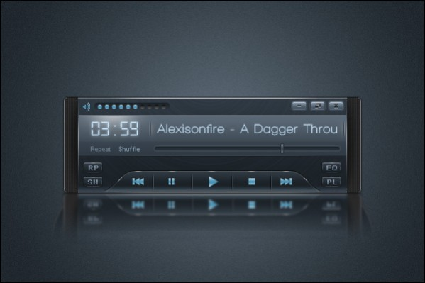 Sleek Audio Player Interface – Free PSD