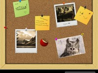 Free Cork Board PSD Template