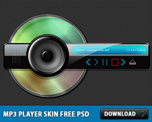 Free Abstract PSD skin for mp3 player