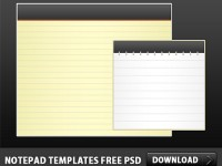 2 Free Notepad PSD Icons