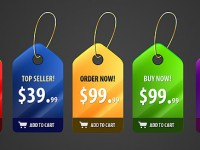 5 Fancy Price Badges Free PSD