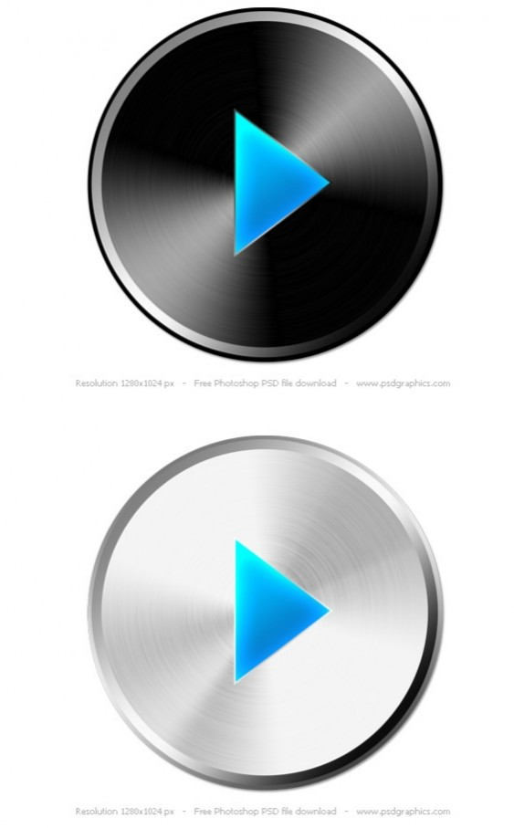 Play Button Free PSD