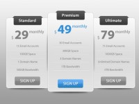Sleek Pricing Table PSD – Free Template