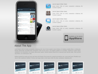 Free Mobile App's Layout PSD