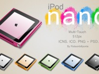 iPod Nano Multi Touch PSD