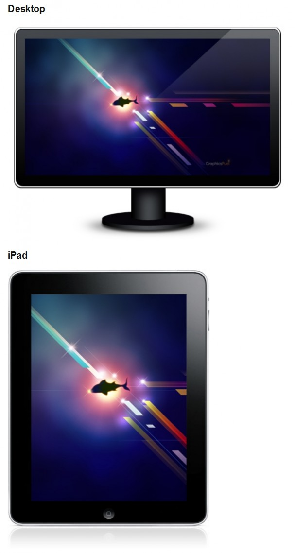 Awesome iPad & iPhone underwater wallpaper PSD