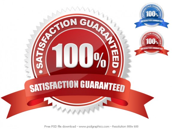 Free guarantee seal PSD