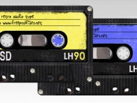 Free Retro Audio Tape PSD