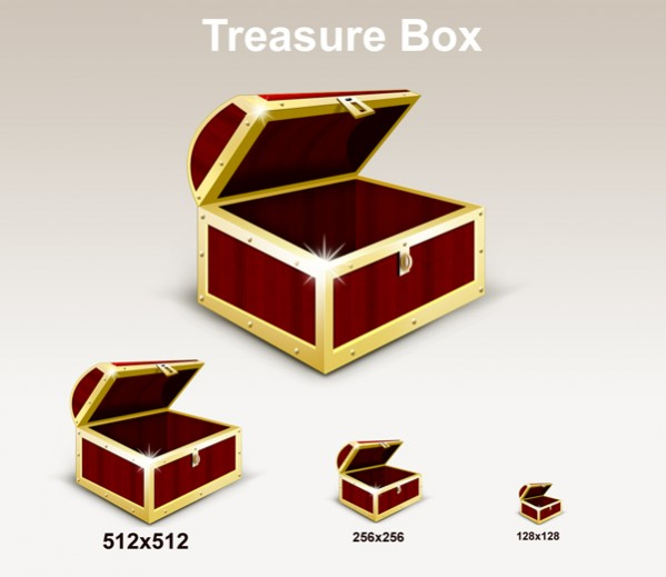 Treasure Box Graphic Icons PSD