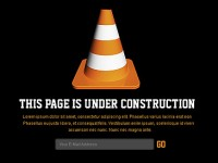 Free Under Construction Page PSD