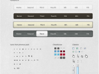 Free UI Web Design Elements PSD