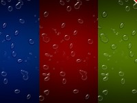 3 Realistic Water drops Colored Background PSD