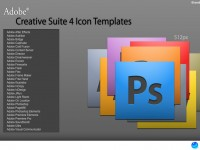 Adobe CS4 Icon PSD Templates