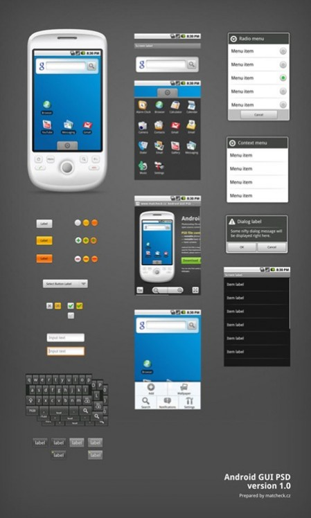 Android GUI Free PSD