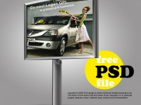 Free Advertising Billboard PSD
