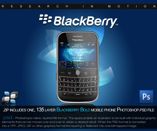 Blackberry PSD By DP Studios preview