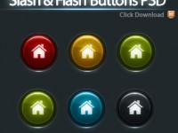 Free Slash and Flash Buttons PSD