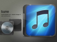 Free iTunes cover icon PSD
