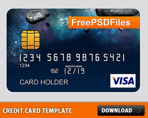 Free Credit Card PSD Template