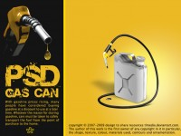 Free Gas Can PSD
