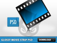 Glossy Blue Movie Strip PSD
