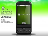HTC Dream Smartphone G1 PSD