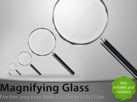 Magnifying Glass Free PSD