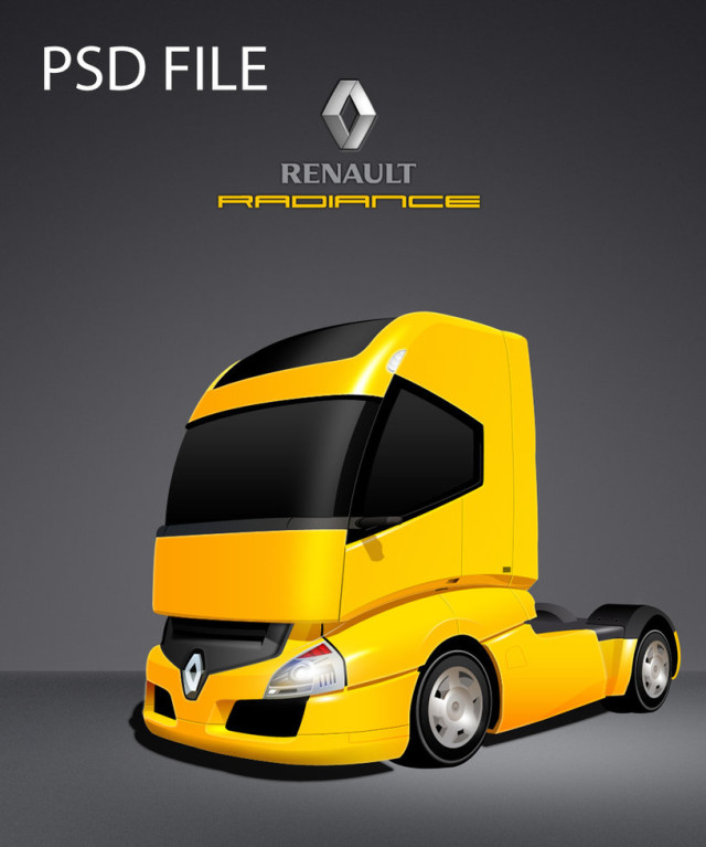 Renault Radiance Truck Free PSD