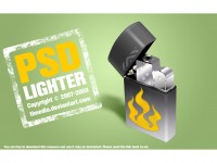 Free lighter PSD Template