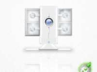 White Speakers Icon PSD