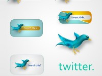 Free PSD Twitter Badges