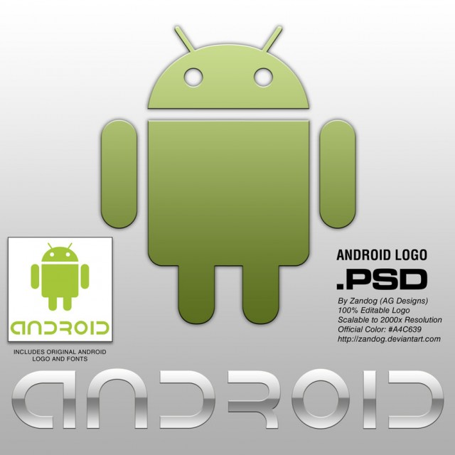 Free Android Logo PSD