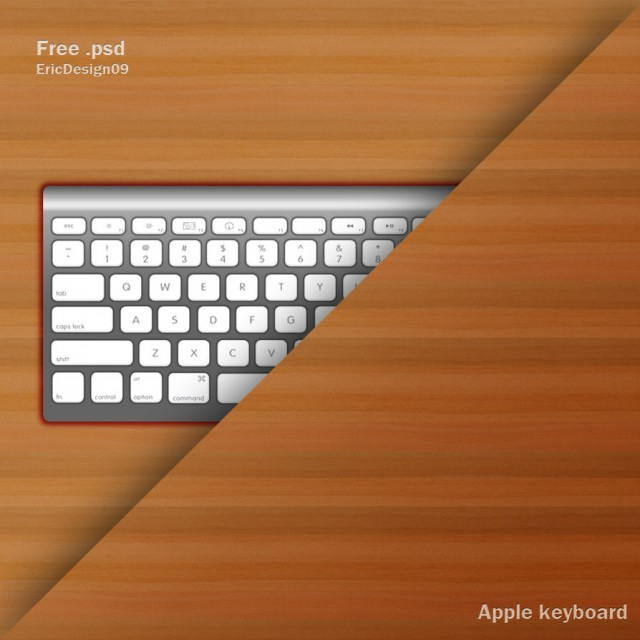 Free Apple Keyboard PSD