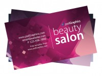 Free Beauty salon business card PSD