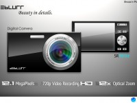 Stylish Black Digital Camera PSD