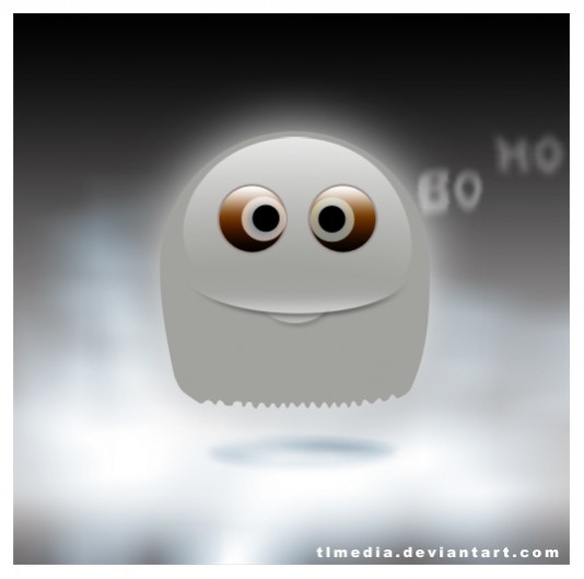 Free Ghost Smiley PSD