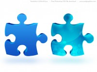 Jigsaw Puzzle Icon Free PSD