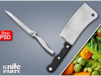 Free Kitchen Knife PSD