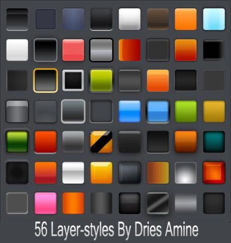 56 Photoshop Layer Styles Free PSD