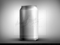 Free Metallic Can PSD
