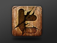 Wooden Social Network Icon Free PSD