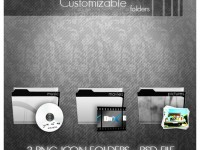 Customizable Folders Icons – Free PSD