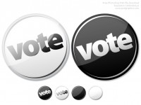 Vote Now Button Free PSD