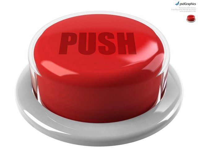 Free 3D Red Push Button PSD