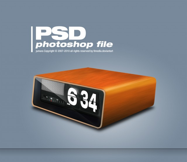 Free Retro Clock PSD