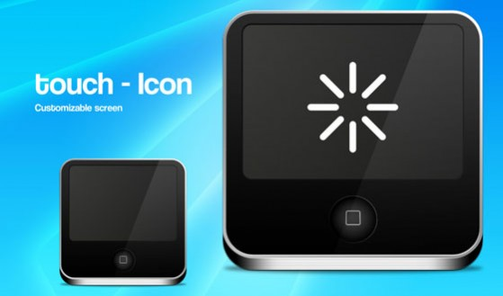 Touch Screen Icon PSD
