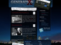 Free Generation WordPress Theme PSD