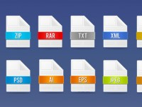 Free Doc File Icons PSD