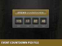 Event Countdown Free PSD Template