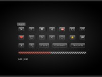 Free Video Playback Buttons PSD